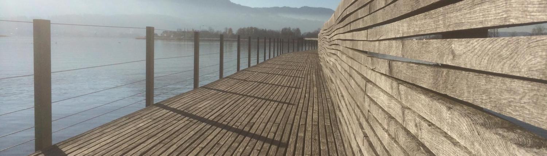Freiraum gestalten Steg Zürichsee Rapperswil
