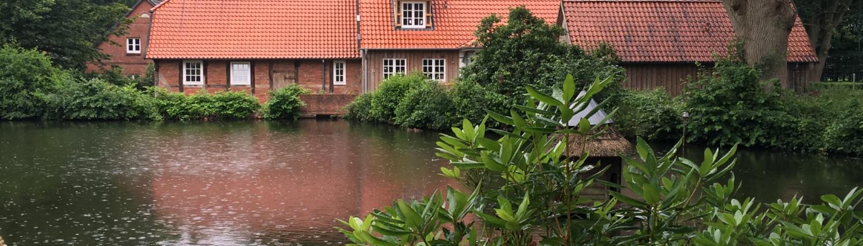 Gartengestaltung, Wassermühle